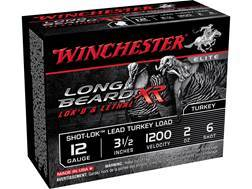 "Winchester Long Beard XR Turkey Ammunition 12 Gauge 3-1/2"" 2 oz #6 Copper Plated Shot Box of 10"