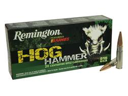 Remington Hog Hammer Ammunition 300 AAC Blackout 130 Grain Barnes Triple-Shock X Bullet Hollow Po...