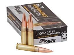 Sig Sauer Elite Performance Match Grade Ammunition 300 AAC Blackout 125 Grain Open Tip Match Box ...