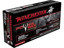 Winchester Power Max Bonded Ammunition 223 Remington 64 Grain Protected Hollow Point