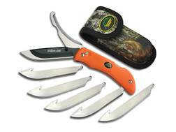 "Outdoor Edge Razor-Pro Folding Hunting Knife 3.5"" Drop Point 420 Stainless Steel Blade Kraton Handle"
