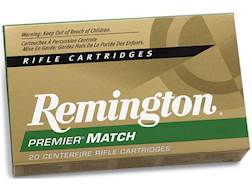 Remington Premier Match Ammunition 6.5 Creedmoor 140 Grain Sierra MatchKing Hollow Point Boat Tai...