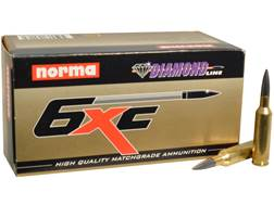 Norma USA Ammunition 6mm XC 105 Grain Diamond Line Hollow Point Boat Tail Moly Box of 50