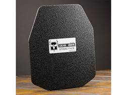 AR500 Body Armor Stand Alone Lightweight Ballistic Plate III+ Right Hand Shooter's Cut Steel