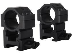 """Leapers UTG 1"""" Max Strength Tactical 6-Hole Quick Detachable Twist Lock Picatinny-Style Rings Matte"""