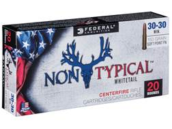 Federal Non-Typical Ammunition 30-30 Winchester 150 Grain Soft Point Flat Nose Box of 20
