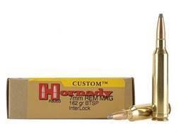 Hornady Custom Ammunition 7mm Remington Magnum 162 Grain InterLock Spire Point Boat Tail Box of 20
