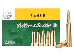 Sellier & Bellot Ammunition 7x65mm Rimmed 173 Grain Soft Point Cutting Edge Box of 20