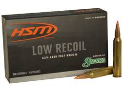 HSM Low Recoil Ammunition 300 Winchester Magnum 150 Grain Sierra Tipped Spitzer Boat Tail Box of 20