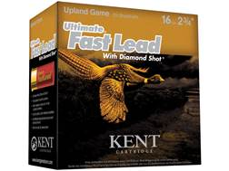 "Kent Cartridge Ultimate Fast Lead Diamond Shot Upland Ammunition 16 Gauge 2-3/4"" 1 oz #6 Shot"