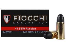 Fiocchi Ammunition 44 Russian 247 Grain Lead Round Nose Box of 50