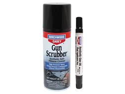 Birchwood Casey Gun Scrubber 10 oz Aerosol and Synthetic Gun Oil Dual End Applicator Pen Combo Pack