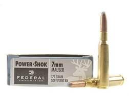 Federal Power-Shok Ammunition 7x57mm Mauser (7mm Mauser) 175 Grain Round Nose Soft Point