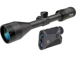 Sig Sauer Whiskey3 Rifle Scope 3-9x 50mm QuadPlex Reticle Graphite with KILO1250 Laser Rangefinde...