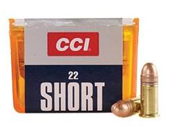 CCI Ammunition 22 Short 29 Grain Copper Plated Lead Round Nose