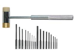 Wheeler Engineering 22-Piece Roll Pin Punch Master Set with Hammer