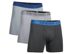"""Under Armour Men's UA Cotton Stretch 6"""" Boxer Briefs Charged Cotton Pack of 3"""