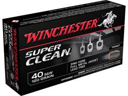 Winchester Super Clean NT Ammunition 40 S&W 120 Grain Full Metal Jacket Lead-Free