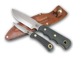 Knives of Alaska Bush Camp/Cub Bear Combination Fixed Blade Hunting Knife Set Rubber Handles Blac...