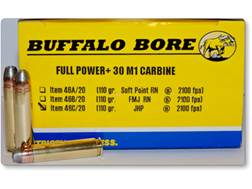 Buffalo Bore Ammunition 30 Carbine 110 Grain Jacketed Hollow Point Box of 20