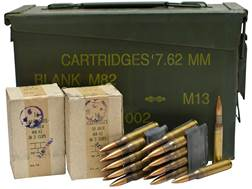 Military Surplus Ammunition 30-06 Springfield 150 Grain Full Metal Jacket Berdan Primed Loaded in 8-Round Garand Clips Ammo Can of 128 Rounds