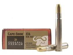 Federal Premium Cape-Shok Ammunition 416 Remington Magnum 400 Grain Speer Trophy Bonded Sledgeham...