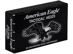 Federal American Eagle Tactical Ammunition 223 Remington 55 Grain Full Metal Jacket Boat Tail Box...