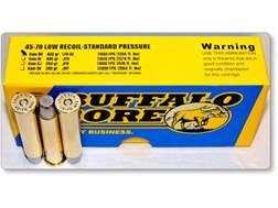 Buffalo Bore Ammunition 45-70 Government 430 Grain Hard Cast Long Flat Nose Low Recoil Standard P...