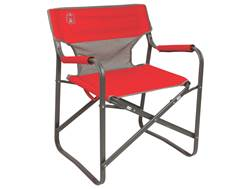 Coleman Outpost Breeze Deck Camp Chair Polyester and Steel Red