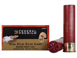 """Federal Premium Mag-Shok Turkey Ammunition 12 Gauge 3-1/2"""" 2-1/4 oz #6 Copper Plated Shot High Ve..."""