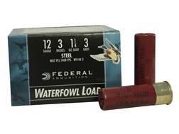 "Federal Speed-Shok Waterfowl Ammunition 12 Gauge 3"" 1-1/4 oz #3 Non-Toxic Steel Shot"