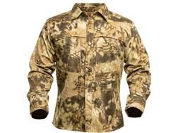 Kryptek Men's Stalker Button-Up Shirt Long Sleeve Cotton Highlander Camo Large