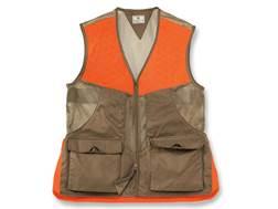 Beretta Men's Upland Vest Cotton/Mesh Light Brown/Blaze Orange XXL