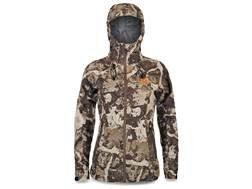 First Lite Women's Cascade Stormlight Rain Jacket Synthetic Blend Cipher Camo XL