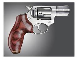 Hogue Fancy Hardwood Grips with Accent Stripe Ruger SP101