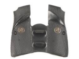 Pachmayr Signature Grips with Backstrap and Finger Grooves Browning Hi-Power Rubber Black