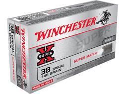 Winchester Super-X Ammunition Super Match 38 Special 148 Grain Lead Wadcutter