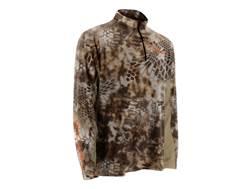 Huk Men's Kryptek Icon 1/4 Zip Performance Shirt Long Sleeve Polyester Kryptek Banshee Large