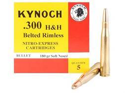 Kynoch Ammunition 300 H&H Magnum 180 Grain Woodleigh Weldcore Soft Point Box of 5