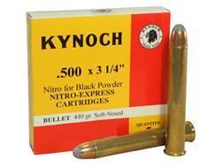 "Kynoch Ammunition 500 Black Powder Express 3-1/4"" 440 Grain Woodleigh Weldcore Soft Point Box of 5"