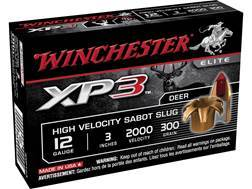 "Winchester XP3 Ammunition 12 Gauge 3"" 300 Grain XP3 Sabot Slug Lead-Free"