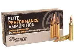 Sig Sauer Elite Performance Varmint and Predator Ammunition 243 Winchester 55 Grain Tipped Hollow...