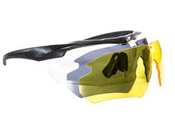 AR-Stoner Shooting Glasses with Interchangeable Yellow, Smoke, and Clear Lenses