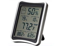 SnapSafe Digital Hygrometer Polymer Black