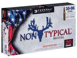 Federal Non-Typical Ammunition 30-06 Springfield 150 Grain Soft Point Box of 20
