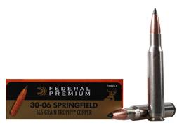Federal Premium Vital-Shok Ammunition 30-06 Springfield 165 Grain Trophy Copper Tipped Boat Tail ...