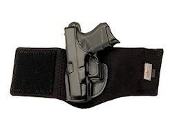 Opened Package Holster Left Hand Walther PPK, PPK/S Leather with Neoprene Leg Band Black