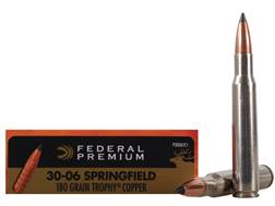Federal Premium Vital-Shok Ammunition 30-06 Springfield 180 Grain Trophy Copper Tipped Boat Tail ...