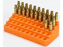 Lyman Bleacher Reloading Tray 0.388 Hole Diameter 204 Ruger, 223 Remington 50-Round Plastic Orange