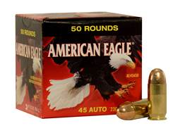 Federal American Eagle Ammunition 45 ACP 230 Grain Full Metal Jacket (no tray)